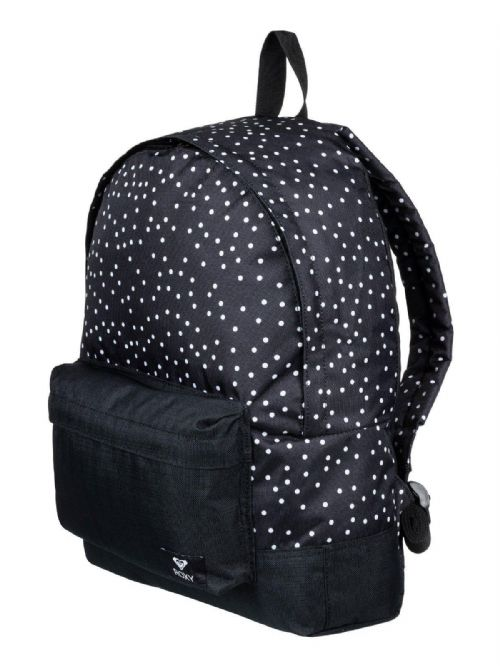 ROXY WOMENS BACKPACK BAG.SUGAR BABY BLACK SPOTTY SPOTTED RUCKSACK 16L 8W 29 KVJ8